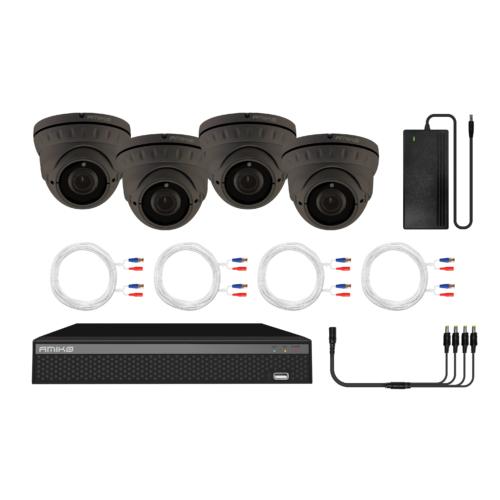 Amiko AHD Kamera Kit, 4 Kamera, 2MP, Manuál Fókusz, Rögzítő, 1 TB HDD, Mobil alkalmazás