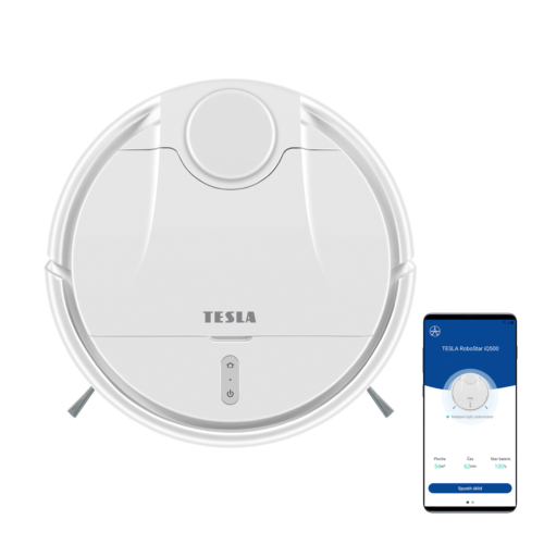 TESLA RS iQ500 Intelligens robotporszívó, Lézer navigáció, neves- száraz, 340 m2, 6400 mAh