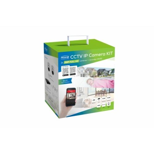 2 kamerás Előre Konfigurált IP Kamera KIT 4520